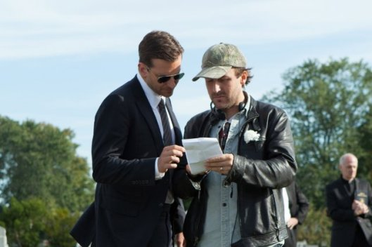 Bradley Cooper and dir. Derek Cianfrance on the set of The Place Beyond the Pines - Photo by Atsushi Nishijima – © 2013 - Focus Features