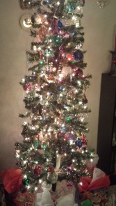 Christmas, tree, lights, tinsel, ornaments, German glass