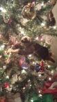 George the Monkey, tinsel, Helper Elm, Christmas, decorating