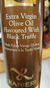 black truffle, olive oil, bargain, shopping, musing, S. A. Young