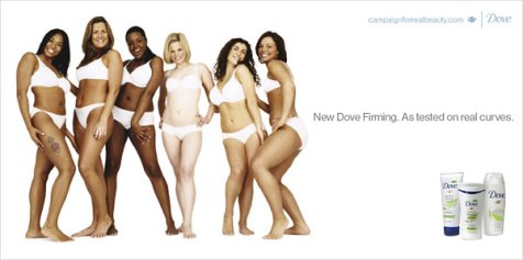 Note - None of the models in the Dove Real Beauty are overweight.