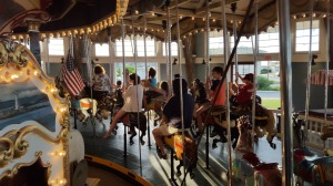 carousel, Paragon Park, Nantasket Beach, 4th of July, S. A. Young
