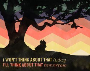 Scarlett O'Hara, S.A. Young, procrastination, meme