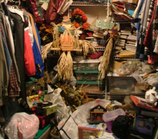 clutter, closet, packing, travel, fall, seasonal, S. A. Young