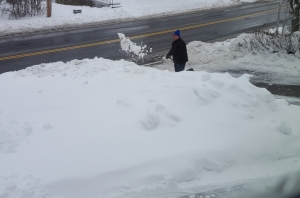 shoveling, snow, storm, birthday, Monday, blogging, S. A. Young